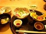 鯛素麺、お造り、飛騨牛刺身、蛸柔らか煮