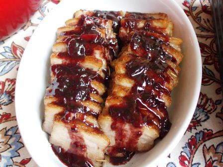 豚肉のロースト・メルロソース