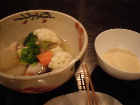 野菜の炊き合わせクリームチーズソース